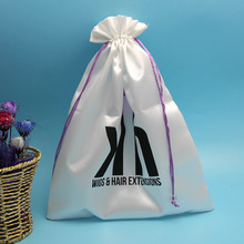 factory custom white satin jewelry gift bag drawstring dust bag