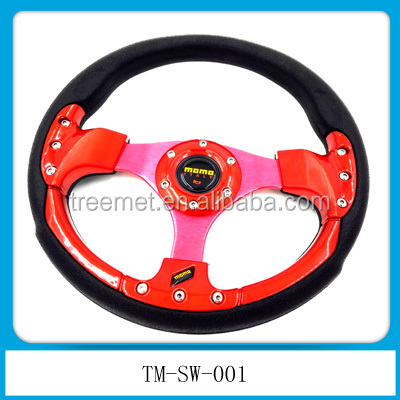 Racing Car suede deep dish steering wheel
