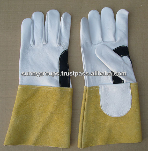 Specially Made Goat and Cow Leather Welding Gloves