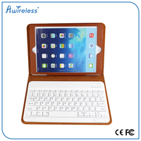 High quality For iPad air Leather Case Cover With Removable Bluetooth Keyboard