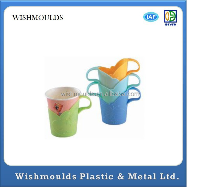 Disposable cups thick pearl bracket 6 loaded, insulation against hot plastic cup holder custom injection plastic mould