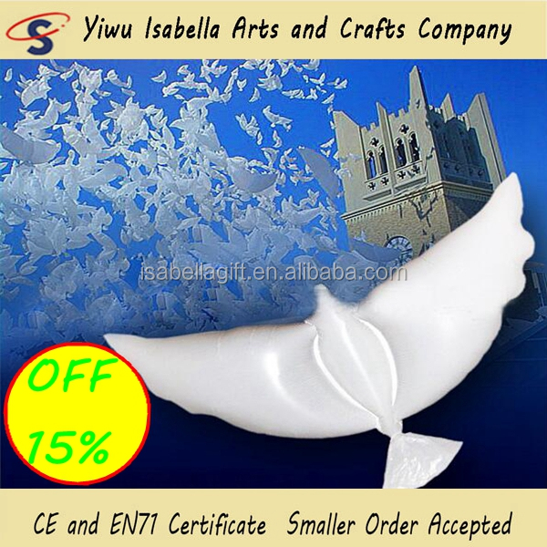 Made In China Samba Hard Plastic Reusable Inflatable Dove Balloons For Wedding Decoration