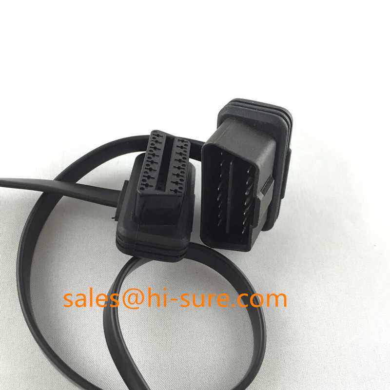 OBD16p extension flat cable, OBD Male to Female Extension Flat cable for OBD scanner