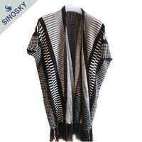 Factory direct new style spring winter Crochet Pattern Poncho