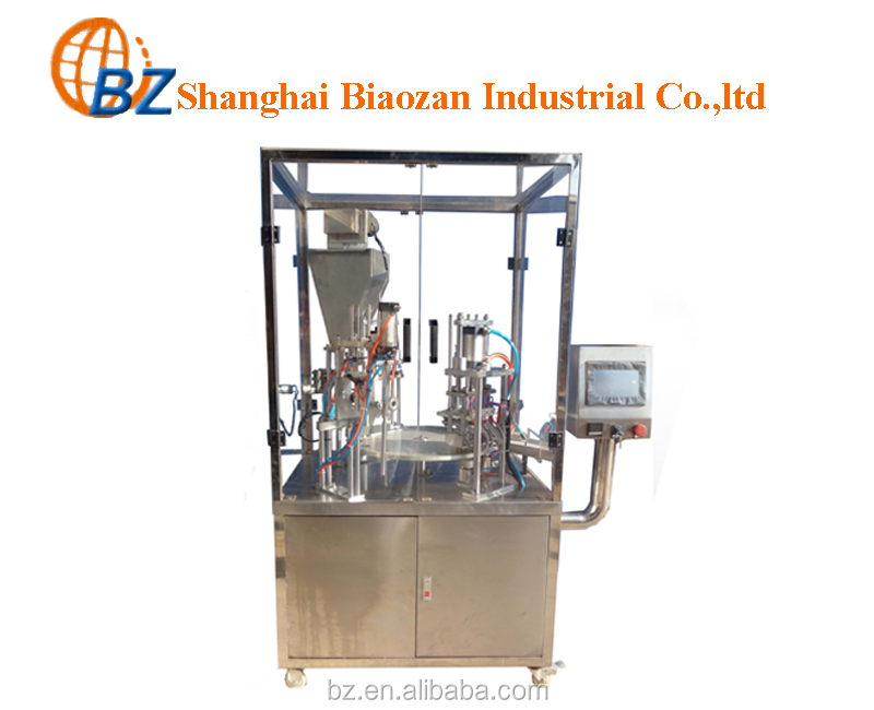 Automatic rotary yogurt/juice/honey/oil PP cup filling and sealing machine for small production industry