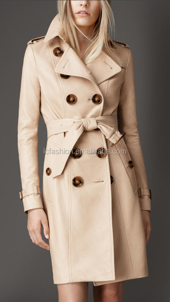 2014 New High Fashion Women Long Faux Leather Winter Jacket LC302