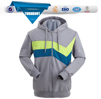 High quality plain Color Zip Hoodie for mens
