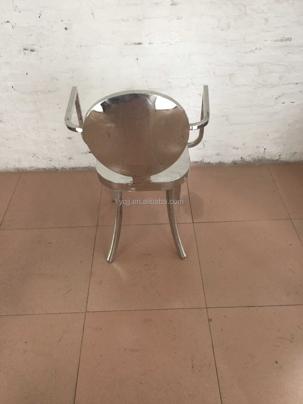 Stainless steel banquet luxury wedding chair for sale