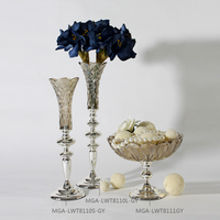 Modern style wedding centerpieces tall glass flower vases