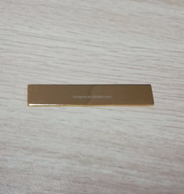 metal gold blank purse/wallet/bag name badge label plate