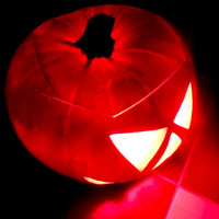 Halloween party gifts,LED light silicone pumpkin lantern,Halloween toys