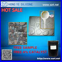 concrete stone stamps moulds making rtv-2 molding silicone rubber