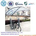 Outdoor galvanized 5 position cycle parking shelter