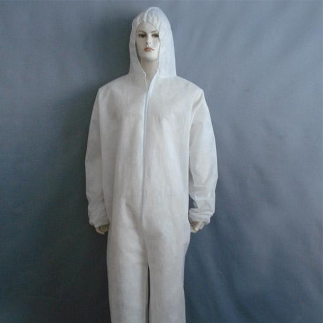 disposable coverall 65 gsm non woven fabric with cap