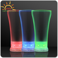 Stylish Led flashing Bubble pilsner cup plastic glass for juice Light Up Pilsner Cup