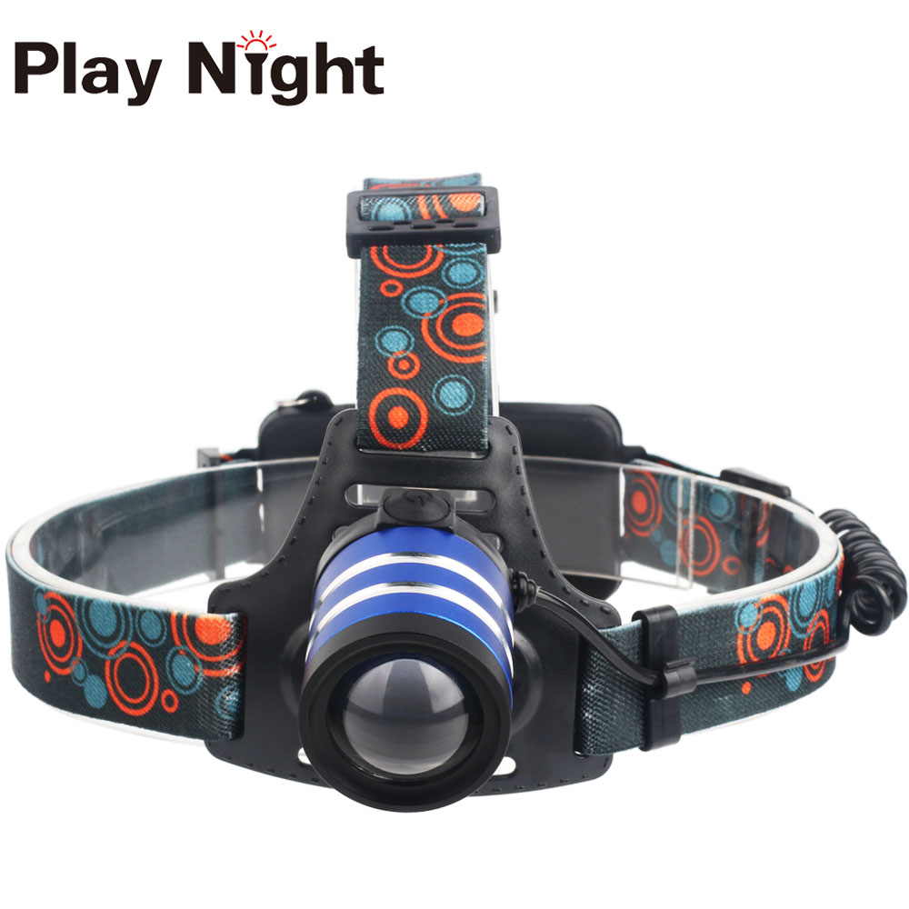 Factory Hot Sale PN-H52 Powerful Outdoor Waterproof 2*18650 LED Camping Headlamp