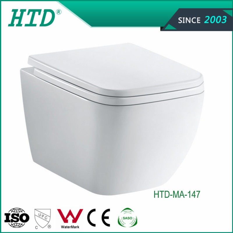 HTD-MA-147 New Design White Ceramic Wall Hung Toilet Bowl