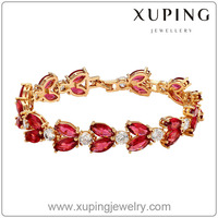 73347 Xuping Jewellery 18k Gold Colour Charm Bracelet With High Quality Glass Indian Jewellery