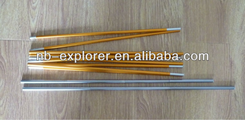 Aluminum tent poles/folding pole with shock cord