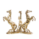 brass figurines horse modern dining tables with metal base