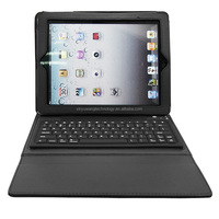 universal folding stand Flexible bluetooth keyboard PU leather case for Ipad 4