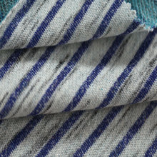 China High Quality Polyester Cotton Terry Knit Fabric Blue And White Striped Fabric