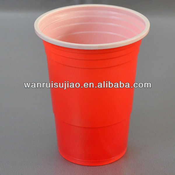 16oz PP double color plastic <strong>cup</strong> , beer pong <strong>cup</strong>