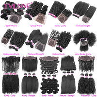 Yvonne Hair Different Types Of Curly Weave Hair Frontal Lace Closure With Bundles