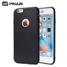 2017 hot new products for iphone 7 case tpu, soft silicone lychee litchi grain leather phone cases for iphone 7 case