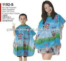 hair cutting cape Children barber cape HQ soft polyester top quality