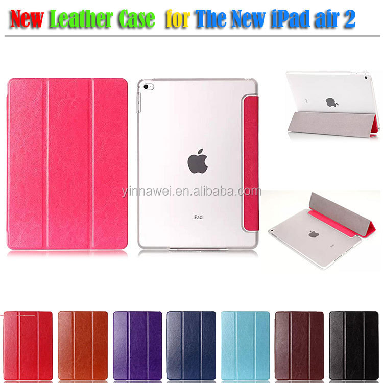 OEM Wholesale Leather Portfolio Case for Apple ipad Air 2 ipad6 with Stand Function