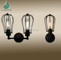 Big sale industrial retro rustic sconce wire cage wall light decorative wall light cover