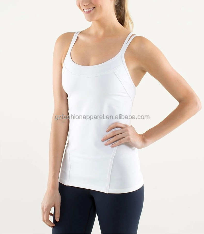 racerback tank tops women blank fitness workout running gym vest