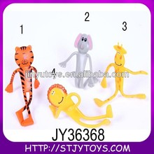 3D PVC bendable plastic animal toy figures