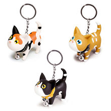 Cute Cat Kitten Style Animal Keychain Vinyl Toy Keychain Custom Color