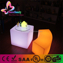 led lighting furniture made i china hot sale cub table large cube bar table for night clube