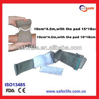 2015 first aid soldier wound Hemostasis Emergency Trauma Military Emergency dressing Black Military Bandage First Aid Bandage