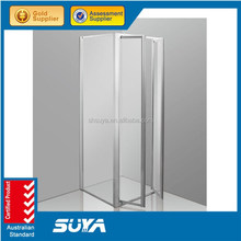 portable pivot shower cabin bathroom low tray fiberglass shower enclosures