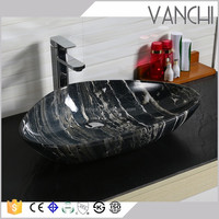 Table top natural stone wash basins ceramic sinks bathroom
