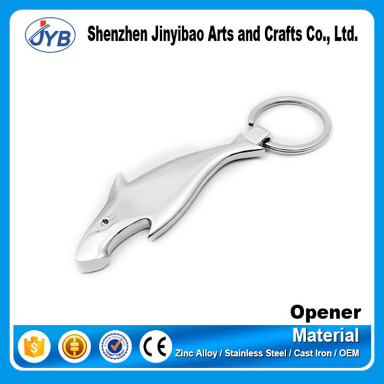 Simple Cool Mini Shark Blank Bottle Beer Opener Keychain for Promotion