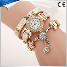 Alibaba Hot Fashion Luxury Rhinestone Bracelet Women Watch Ladies Quartz Watch Casual Women Wristwatch WW046