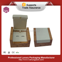 Wholesale wooden cufflink gift box & cufflink box packaging(WH-0788)
