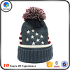 Custom Free Colorful Custom Slouch Pom Knitted Beanie