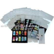 PVC material Reusable Airbrush Nail Stencil for nail beauty nail art