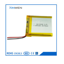 XW104050 rechargeable 3.7V 2300mAh polymer lithium battery for Bluetooth headset /earphone /MP3