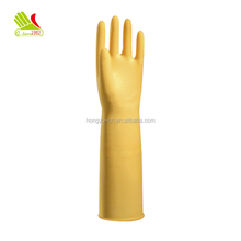 Custom printed skin color gloves long protective gloves for household goods kitchen