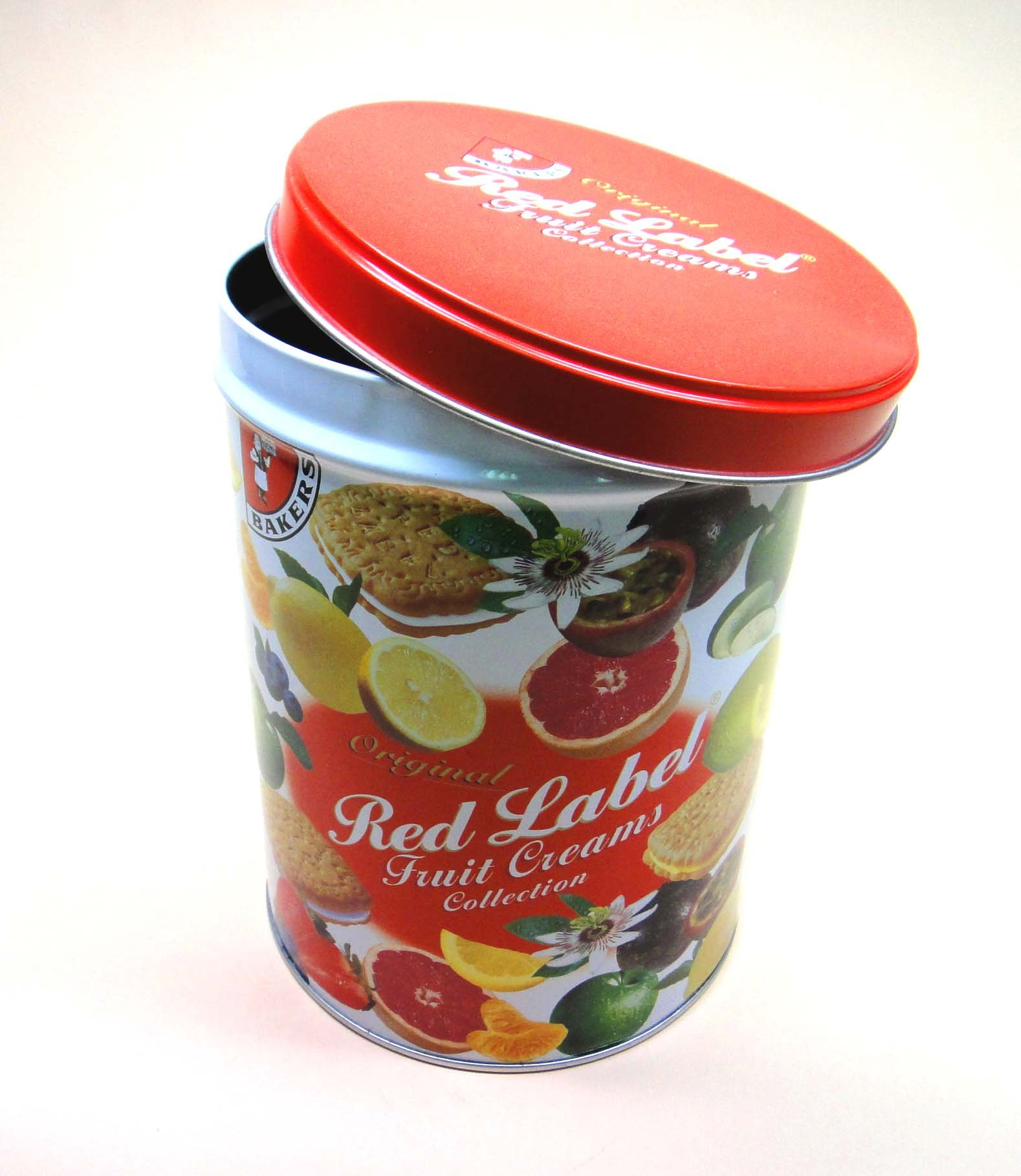 round tin can for food pack