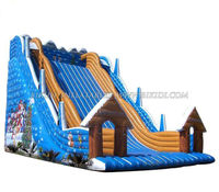 Inflatale christmas dry slide, water slide, inflatable slide for sale C1011