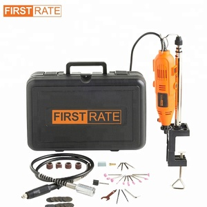 FIRST RATE EU 135W Mini Electric Drill Dremel Grinder Rotary Tool with Engraving Accessories kit