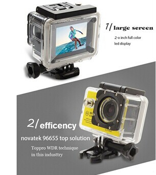 1080p ultra hd wifi xiaomi yi action camera sport DV underwater 30M with factory christmas promotion price